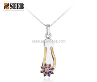 2015 Fashion Indian 18k Gold Crystal Flower Costume Jewellery