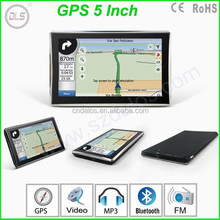 "5"" inch touch screen gps with bluetooth av-in isdb-t fm transmitter, high quality car gps navigation"