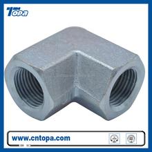 7N9 90 degree NPT female adapter Hot sale BSP/Metric/JIC/NPT hydraulic steel hose fittings