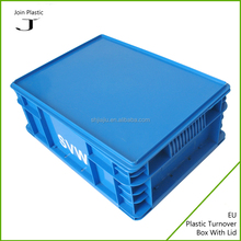 Plastic rectangular chest packaging box stackable plastic crate