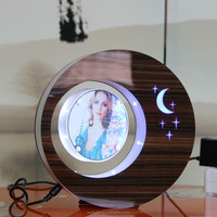 2 sides LED suspending in the air magnetic levitation photo frame unique cute anniversary gift ideas