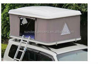 4 person poly cotton fabric fiberglass car roof top tent for sale