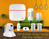 All-in-one alarm system & wireless home security alarm system & WIFI GSM home alarm system APP control