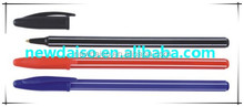 Plastic colored BIC promotional bic ball pen /plastic ball pen/roller tip pen