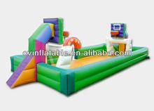 Inflatable football and basketball field