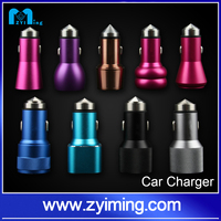 2015 OEM Promotional Universal 5V 3.1A stainless steel Mini dual usb car charger