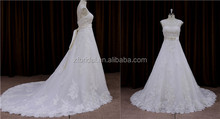 Charming flat Crumpled south africa wedding gown