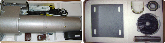 backup battery roller door motor