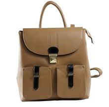 Women school leather backpack