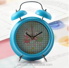 Mini running metal table clock
