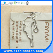 Beautiful and charming mini basketball player shape paper clip