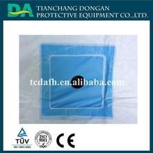 Hot sell material estéril e drape cirúrgica descartável com furo e fita