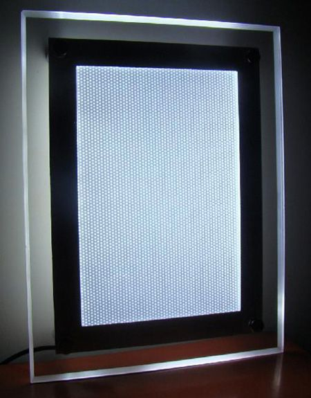 high quality acrylic led outdoor light box with aluminum alloy frame