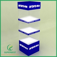 OEM/ODM popular desgin Acrylic display case with LED