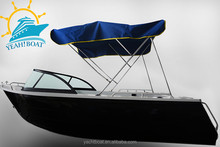 17ft aluminum fishing runabout boats with windscreen