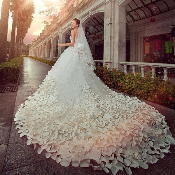 Wedding Gowns With Cathedral Length Train 106