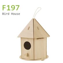 wooden indoor bird house