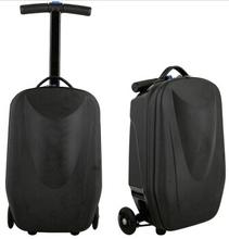 high quality black hard aluminum suitcase