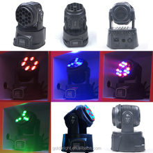 Small moving head LED light DJ lights 18 beam 3w RGB mixing color
