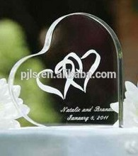Top sale heart cake stand crystal award trophy wedding gifts for guests