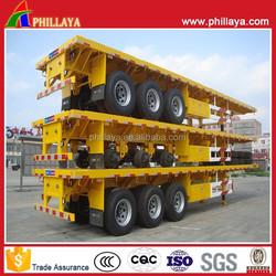 High Flatbed Deck Trailer / Container Platform Semi Trailer
