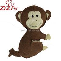 china supplier monkey shape dog cat pet toy