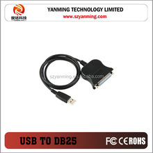 USB to serial DB25 25-Pin Female Parallel Port printer Cable Adapter