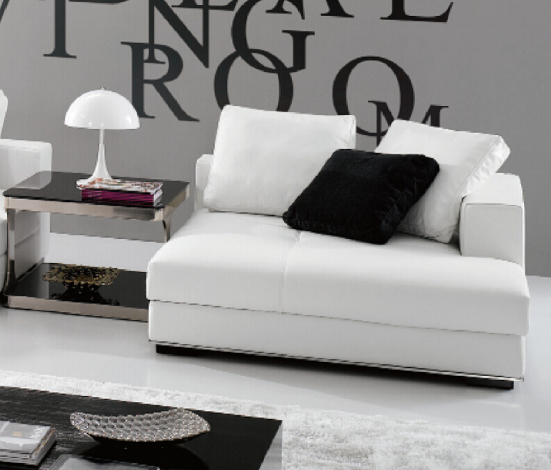 modern fashion elegant white color l shape sofa cover