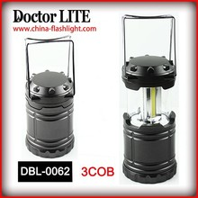 2015 New 3 COB LED Camping Lantern Ultra Bright folding camping lantern for home outdoor and emergency