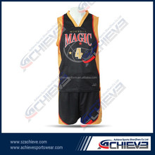 Customized different colors sports basketball jersey,full sublimation basketball tops