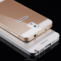 New style unlocked bumper metal sheet back cover phone case for samsung galaxy note 3 case
