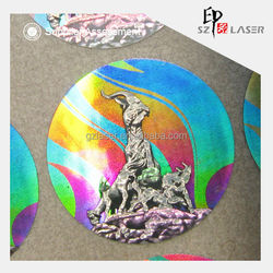 Anti Counterfeiting PET/Paper Material Hologram Label for Student ID Card University Certificate