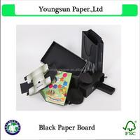 Black matt art book printing paper 80g/250g black print paper