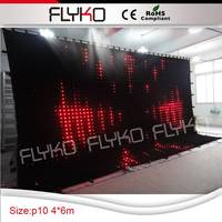 accordion remote control led elegant star curtain