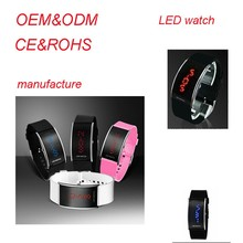 OEM ODM silicone led watch multicolor and blue or red ligt for choose, smart watch phone, swatch watch