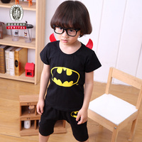 Clothing fashion for kid 2013 real bat pattern childrens clothing set