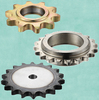 Type C roller chain sprockets with yellow zinc-plated