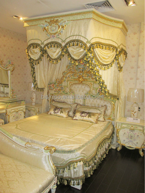 Italian royal bedroom furniture luxury upholstered canopy for Royal headboard