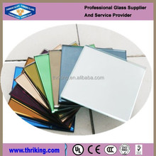 double coating tinted glass mirror for decoration
