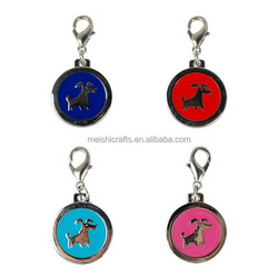 Brand New Dog Charms Lovely Pet Tags Stainless Steel Pendants 4 Colors