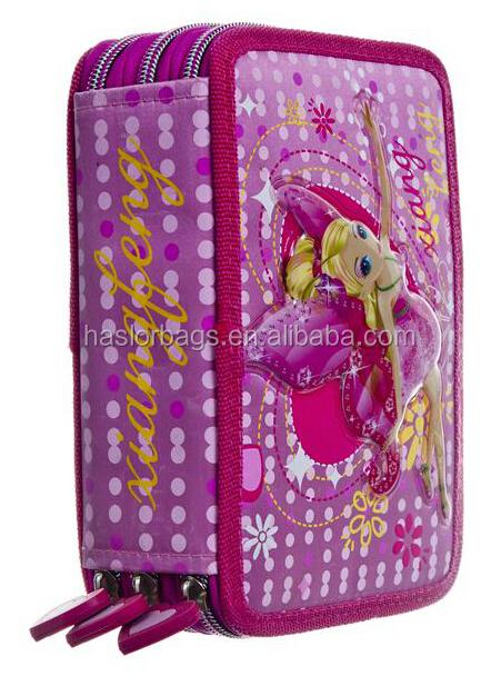 Belle Elfin gros sac de crayon / 3 couches mignon étui à crayons