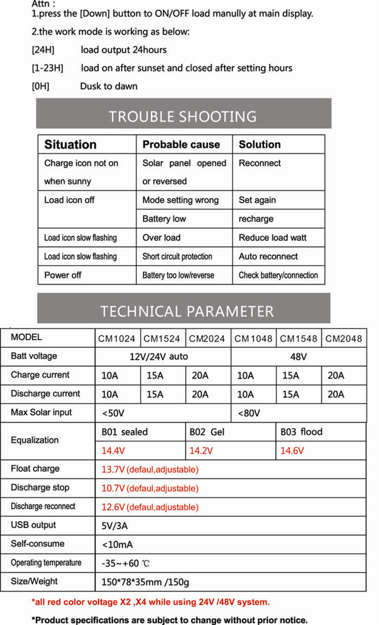 Pwm Solar Charge Controller Instruction Manual Good Owner Guide 10a 12v 24v Auto Eprc User