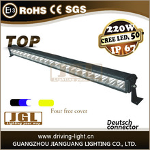 Custom rigid or 220 Watt 50 inch Single Row LED Light Bar off road led light bar 50000 hours Life span