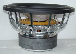 12 inch 1600w max power best car powered subwoofer