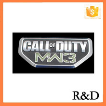 Plastic Nameplat Badge For Call of DUTY MW3 Emblem Emblema Sticker Decal Sign Logo 3D