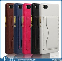 Luxury Leather Cardholder Back Case for Huawei P8