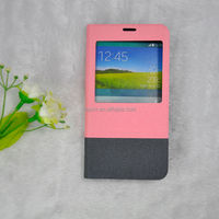 New Book Style Cell Phone Accessories of Window Leather Case for Samsung Galaxy S5