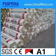 Stock sale 25mm or 50mm heat insulation glass wool roll price with fireproof FSK