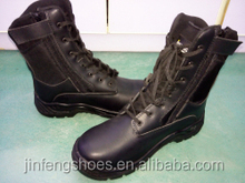 fashion military boots low price safety shoes with side-zip PU/rubber outsole steel toe