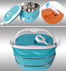 rectangular stainless steel insulated lunch box / steel food storage lunch box for promotion